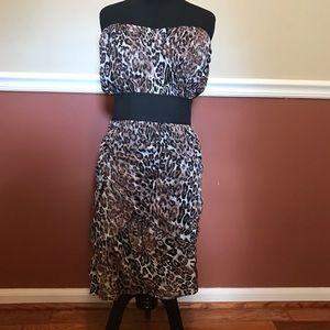 Size 22 Torrid Leopard Strapless Dress